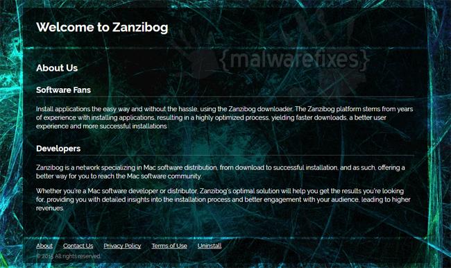 Screenshot of Zanzibog website