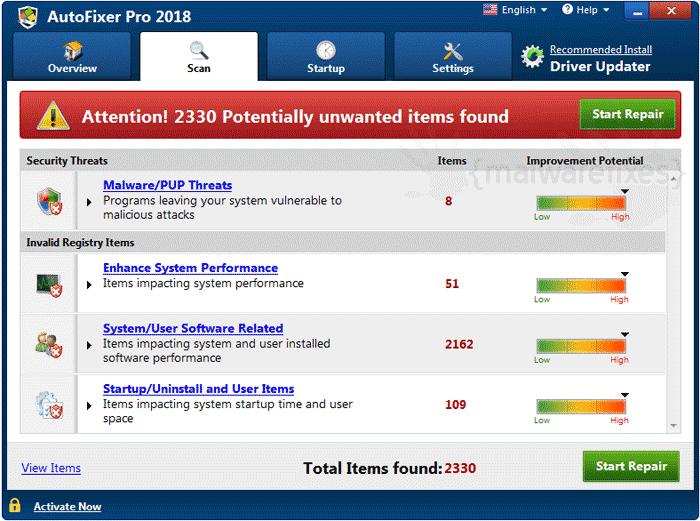 Screenshot image of AutoFixer Pro 2018