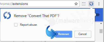 Delete Convert That PDF from Chrome