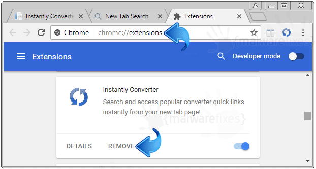 Search.hinstantlyconverter.com Chrome Extension