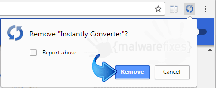 Delete Instantly Converter from Chrome
