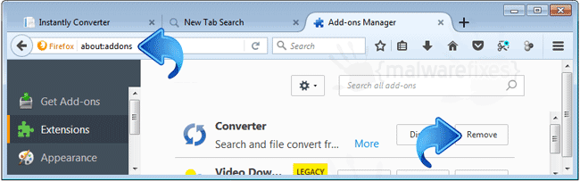 Search.hinstantlyconverter.com Firefox Extension