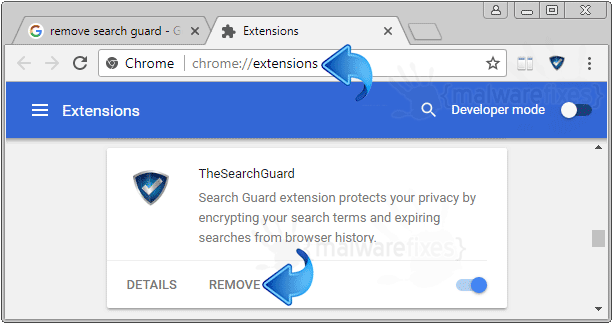 Search.thesearchguard.com Chrome Extension