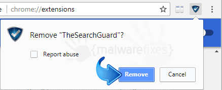 Delete Search.thesearchguard.com from Chrome