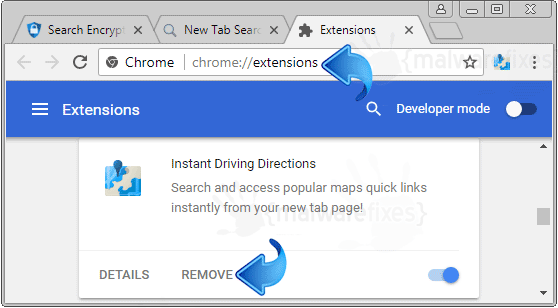 Instant Driving Direction Chrome Extension