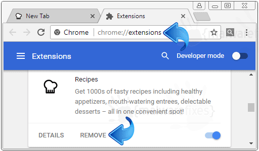 Recipes Extension Chrome Addon