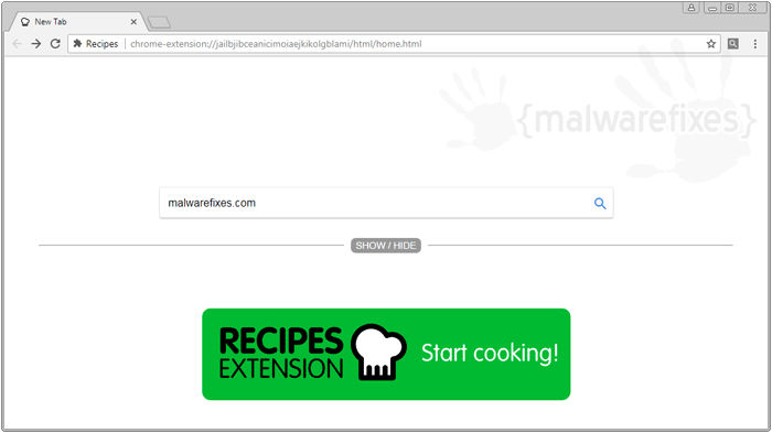 Recipes Extension