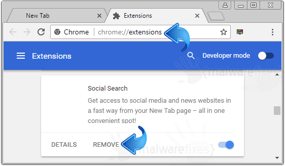 Social Search Chrome Extension