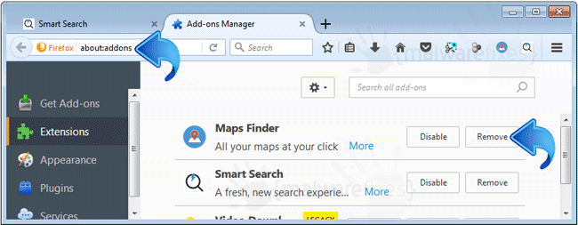 Maps Finder Firefox Extension