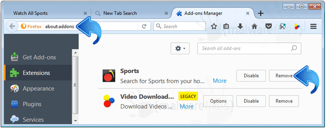 Watch All Sports Firefox Extension