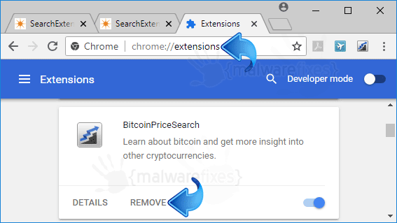 BitcoinPriceSearch Chrome Extension