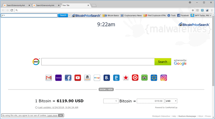 BitcoinPriceSearch Toolbar