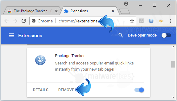 Home.packagetracker.co Chrome Extension