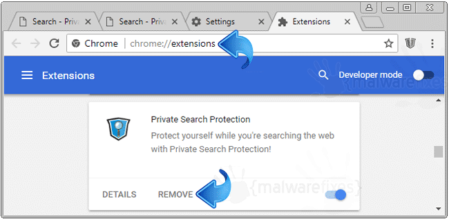 Search.privatesearchprotection.com Chrome Extension