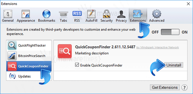 QuickCouponFinder Safari Extension