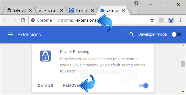 Private Browsing Chrome Extension