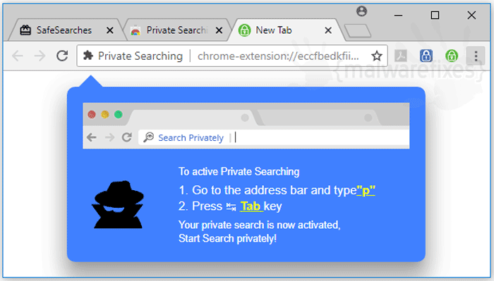 Image of Private Searching website
