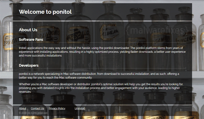 Image of Search.ponitol.com website