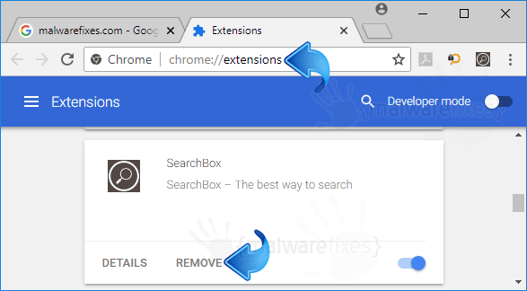 Search Box Chrome Extension