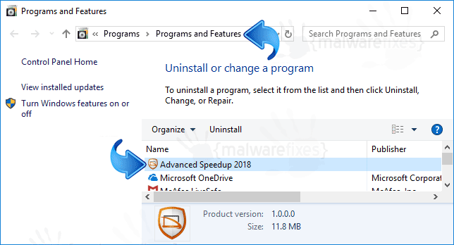 Add-Remove Advanced Speedup 2018