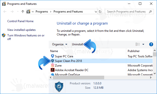 Add-Remove Super Clean Pro 2018