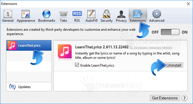 LearnTheLyrics Safari Extension