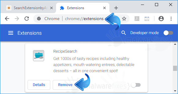 RecipeSearch Chrome Extension