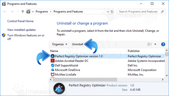 Add-Remove Perfect Registry Optimizer