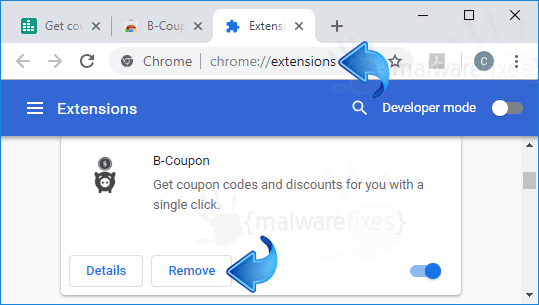 B-Coupon Chrome Extension