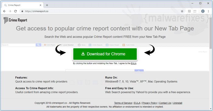 Image of Crime Report website