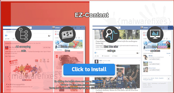 Image of EZ-Content website