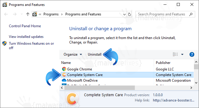 Add-remove Complete System Care