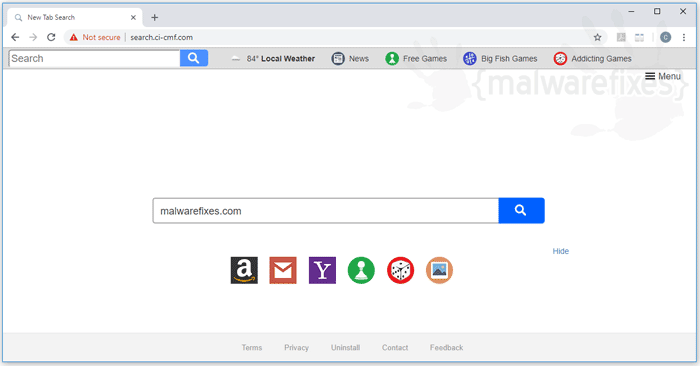 Screenshot of Search.ci-cmf.com website