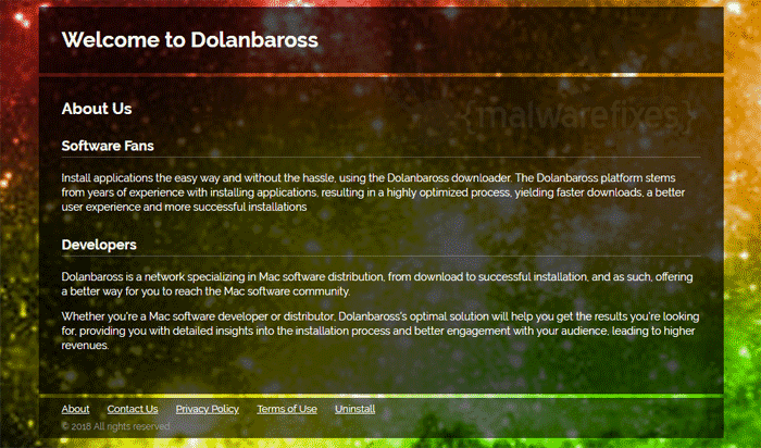 Screenshot of Dolanbaross website