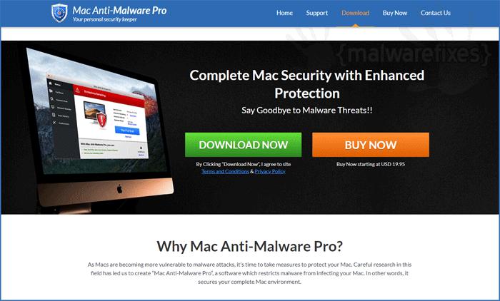 Image of Mac Anti-Malware Pro website