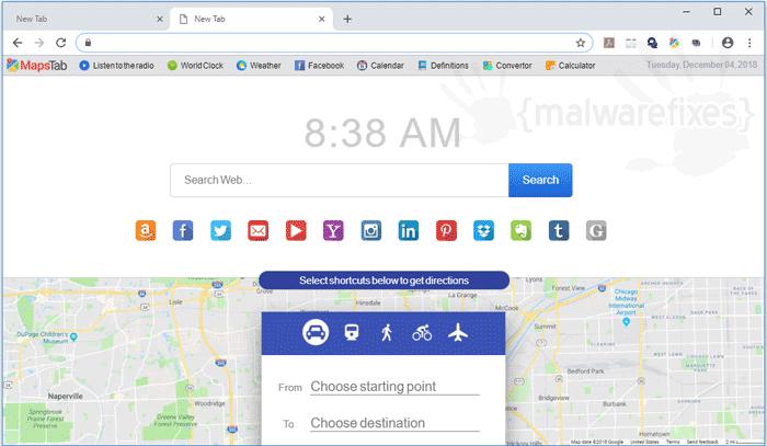 Maps Tab