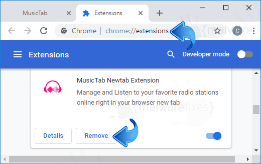 MusicTab Newtab Extension