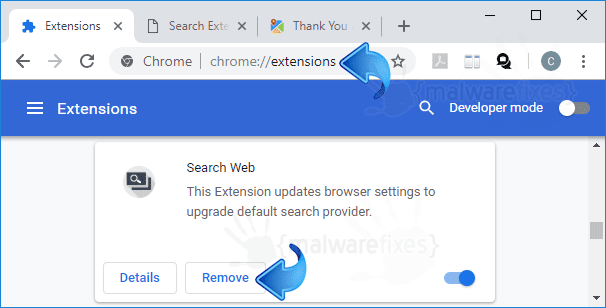 Search Web Chrome Extension