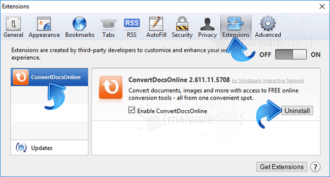 ConvertDocsOnline Safari Extension