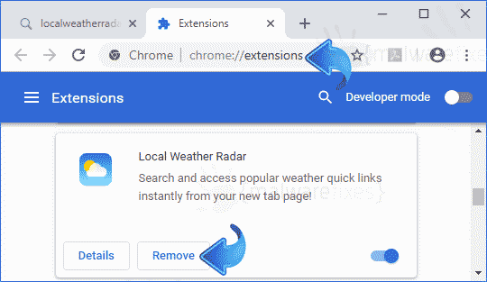 Local Weather Radar Chrome Extension
