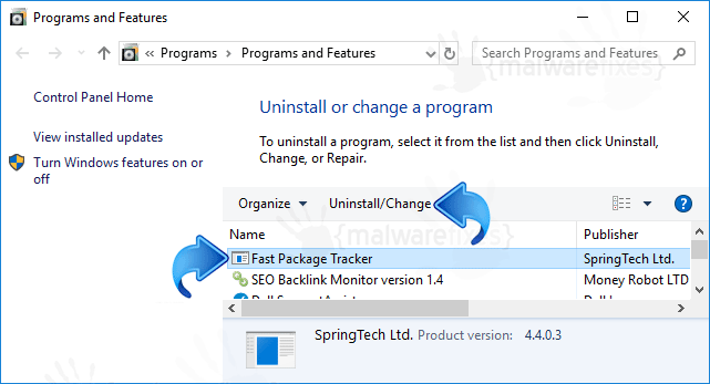 Add-Remove Search.hfastpackagetracker.net