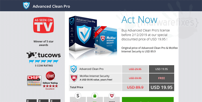 Advanced Clean Pro Registration