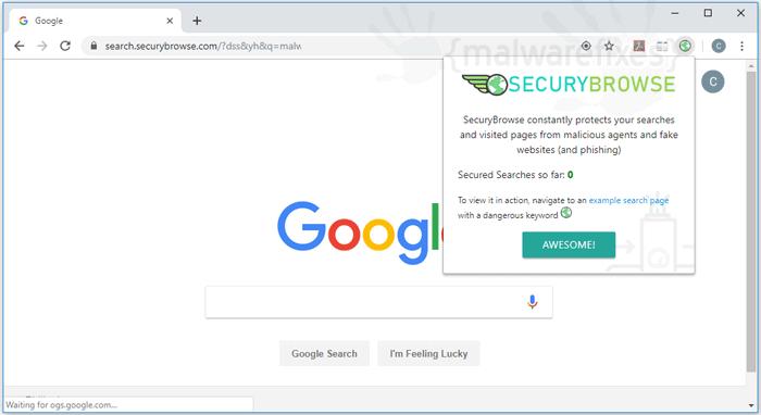 SecuryBrowse website image