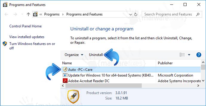 Add-Remove Auto PC Care