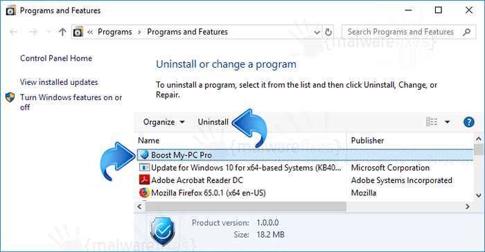 Add-Remove Boost My PC Pro