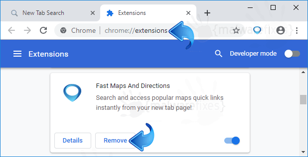Fast Maps and Directions Chrome Extension