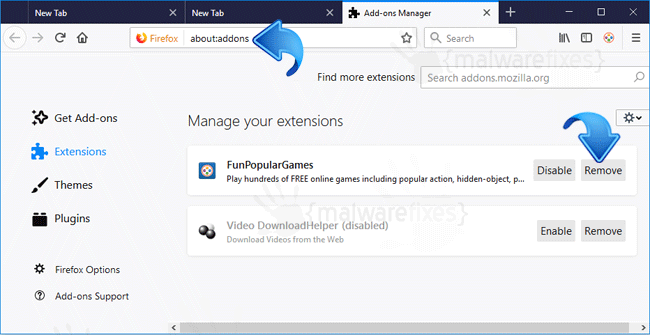 FunPopularGames Firefox Extension