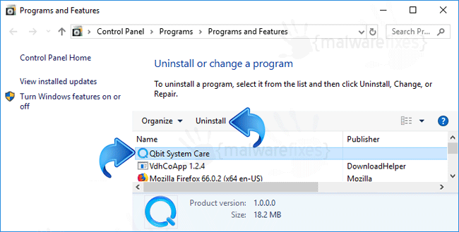 Add-Remove Qbit System Care