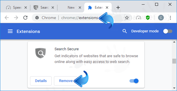 Search Secure Chrome Extension