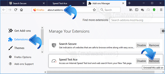 Speed Test Ace Firefox Extension